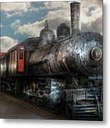 Train - Engine - 6 Nw Class G Steam Locomotive 4-6-0  Metal Print by Mike Savad