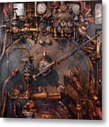 Train - Engine - Hot Under The Collar  Metal Print by Mike Savad