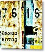 Train Plate 3 Metal Print by April Lee