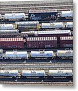 Train Wagons, South Portland Metal Print by Dave Cleaveland