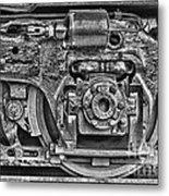 Train Wheel Metal Print by Cindi Ressler