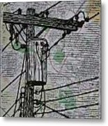 Transformer On Map Metal Print by William Cauthern