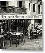Trattoria In Venice  Metal Print by Madeline Ellis