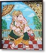 Travelling Ganesh Metal Print by Jayashree