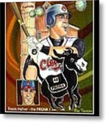 Travis Hafner The Pronk Metal Print by Ray Tapajna