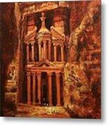 Treasury Of Petra Metal Print by Tom Shropshire