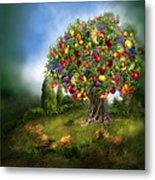 Tree Of Abundance Metal Print by Carol Cavalaris