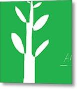 Tree On Green Metal Print by Anita Dale Livaditis
