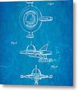 Tremulis Spaceship Hood Ornament Patent Art 1951 Blueprint Metal Print by Ian Monk