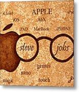 Tribute To Steve Jobs 2 Digital Art Metal Print by Georgeta  Blanaru