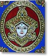 trinetra Durgaji Metal Print by Vimala Jajoo