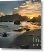 Trinidad Sunset Reflections Metal Print by Adam Jewell