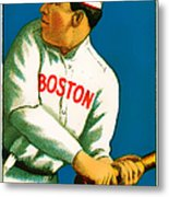 Tris Speaker Boston Red Sox Baseball Card 0520 Metal Print by Wingsdomain Art and Photography