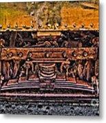 Trolley Train Details Metal Print by Susan Candelario