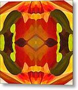 Tropical Leaf Pattern 17 Metal Print by Amy Vangsgard