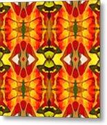 Tropical Leaf Pattern 2 Metal Print by Amy Vangsgard