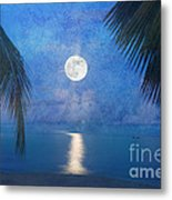 Tropical Moonglow Metal Print by Betty LaRue