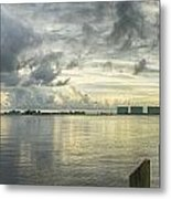 Tropical Winds In Orange Beach Metal Print by Michael Thomas