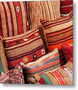 Turkish Cushions 02 Metal Print by Rick Piper Photography