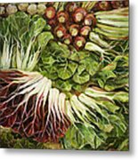 Turnip And Chard Concerto Metal Print by Jen Norton