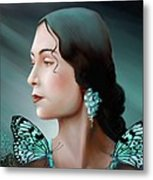 Turquoise  Poetry Metal Print by Susi Galloway