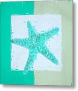 Turquoise Seashells Ix Metal Print by Lourry Legarde