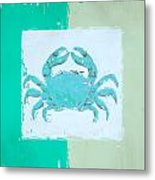 Turquoise Seashells Xv Metal Print by Lourry Legarde