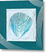 Turquoise Seashells Xxiii Metal Print by Lourry Legarde