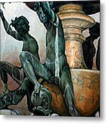 Turtle Fountain Metal Print by Kathleen English-Barrett