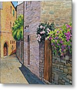 Tuscan Alley Metal Print by Marguerite Chadwick-Juner