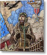 Tuskegee Airman Metal Print by Anthony High