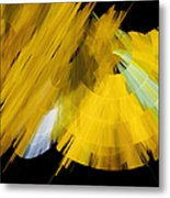 Tutu Stage Left Abstract Yellow Metal Print by Andee Design