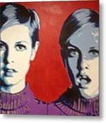 Twiggy Two Face Metal Print by Grant  Swinney