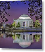 Twilight At The Thomas Jefferson Memorial  Metal Print by Susan Candelario