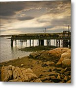 Twilight Cape Porpoise Maine Metal Print by Bob Orsillo