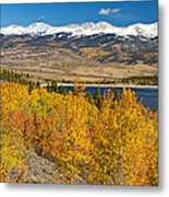 Twin Lakes Colorado Autumn Landscape Metal Print by James BO  Insogna