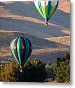 Two Balloons In Morning Sunshine Metal Print by Carol Groenen