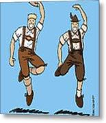 Two Bavarian Lederhosen Men Metal Print by Frank Ramspott