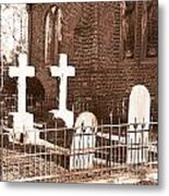 Two Crosses In Saint Lukes  Metal Print by Artist and Photographer Laura Wrede