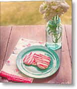 Two Hearts Picnic Metal Print by Kay Pickens