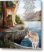 Two Wolves- Poster Metal Print by Dorothy Riley