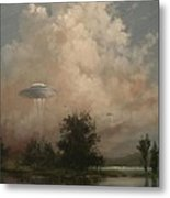 Ufo's - A Scouting Party Metal Print by Tom Shropshire