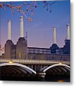 Uk, England, View Of Battersea Power Metal Print by Dosfotos