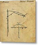 Umbrella Patent - A.b. Caldwell Metal Print by Pablo Franchi