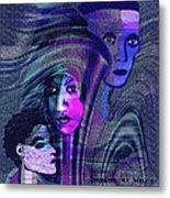 Una Madonna Arrabbiata - 315   Metal Print by Irmgard Schoendorf Welch