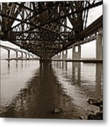 Under Bridges Metal Print by Donna Blackhall