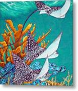 Under The Bahamian Sea Metal Print by Daniel Jean-Baptiste