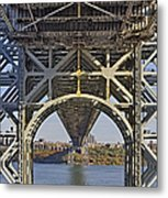 Under The George Washington Bridge I Metal Print by Susan Candelario
