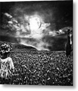 Under The Moonlight Metal Print by Sabine Peters