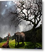 Under The Old Oak Tree - 5d21097 - Vertical Metal Print by Wingsdomain Art and Photography